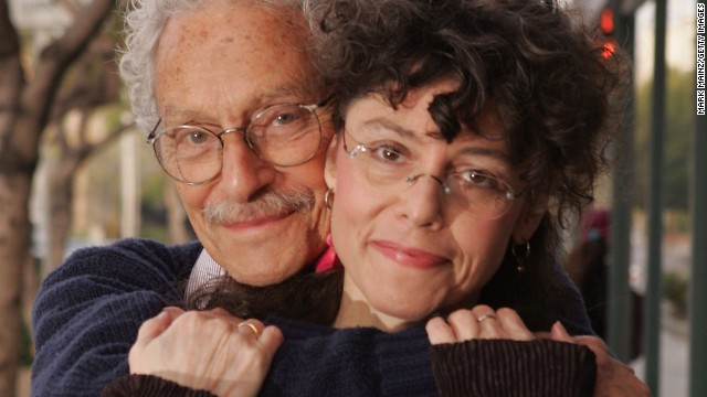 Actor Allan Arbus poses for a portrait with his daughter photographer Amy Arbus in 2007. Allan Arbus, who played psychiatrist Maj. Sidney Freedman in the M*A*S*H television series, died at age 95, his daughter's representative said April 23.